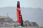Emirates Team New Zealand had to retire from race two. Photo / AP