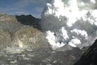 GNS released this photo of the moment White Island erupted. Photo / GNS