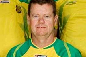 Trevor Waite, seen here in a 2011 photo of the Drury United Football Club Senior men's team. Photo / supplied