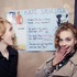 """Models backstage at Kate Sylvester, with the show instructions - """"You are cool and beautiful and we love you!"""" Photo / Oliver Rose"""