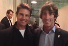 Tom Cruise with restaurateur Tony Stewart at his pop-up restaurant in San Francisco.