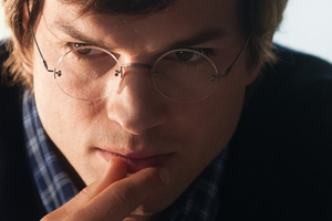 Ashton Kutcher as Steve Jobs in Jobs.