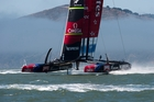 Team NZ's battle for the 34th America's Cup begins on Wednesday after new aerodynamic features have been tested on the water. Photo / Chris Cameron
