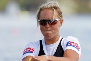 Emma Twigg is a medal hope in the women's single sculls. Photo / NZPA
