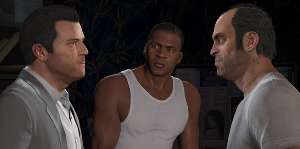 A scene from Grand Theft Auto V.