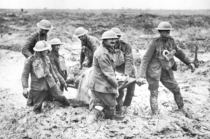 More than 1300 New Zealanders died in the mud of Flanders during the battles in October 1917. Photo / British Imperial Museum
