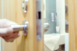The woman's dash through the jury room to the toilet took everyone by surprise - and has caused a delay to proceedings. Photo / Thinkstock