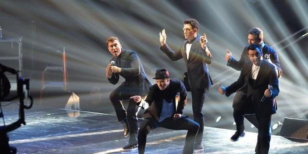 Chris Kirkpatrick, Joey Fatone, Justin Timberlake, JC Chasez and Lance Bass of *NSync perform during the 2013 MTV Video Music Awards. Photo / AP