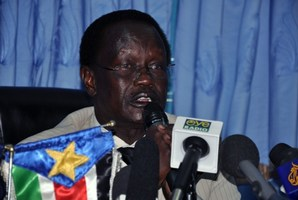 South Sudan Interior Minister Aleu Ayeny Aleu. Photo / AFP