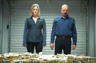 Anna Gunn as Skyler and Bryan Cranston as Walter White in a scene from Breaking Bad. Photo / AP
