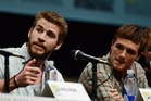 Liam Hemsworth, and Josh Hutcherson ate 45 burgers between them after finishing The Hunger Games. Photo / AP