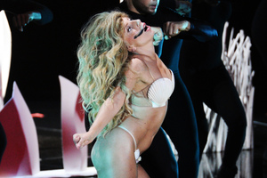 Lady Gaga performs at the MTV Video Music Awards. Photo / AP