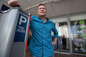 Tauranga Mainstreet manager Kirby Weis, Story on parking. Photo: JOEL FORD BTC 22Mar13 - PARKING CHANGES: Mainstreet Tauranga manager Kirby Weis wants to remove the barriers to people com