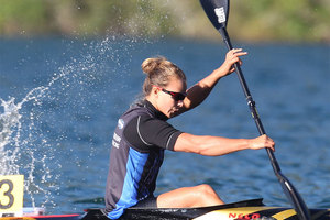 Olympic champion Lisa Carrington qualified fastest for the semifinals of the K1 200m at the world canoeing championships in Duisburg. Photo / Getty Images.