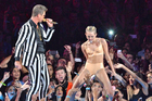 Miley's music awards twerk-fest. Photo / Getty Images