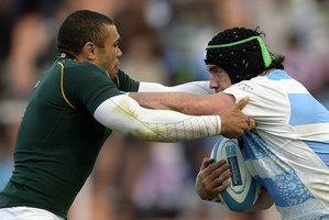 Argentina confronted the Springboks with a physical approach in Mendoza. Photo / AFP