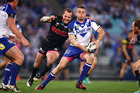 Bulldogs John Reynolds looks to pass. Photo / Getty Images