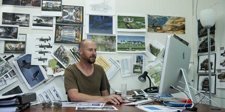 Kiwi Phil Ivey at work behind the scenes of hit movie 'Elysium'. Photo / Stephanie Blomkamp