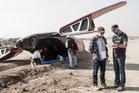 Kiwi Phil Ivey with director Neill Blomkamp on the set of hit film 'Elysium'. Photo / Stephanie Blomkamp