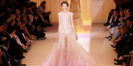 A model wears a creation as part of Giorgio Armani Prive's Haute Couture Fall-Winter 2013-2014. Photo / AP