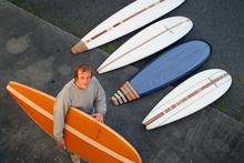 Surfboard maker Roger Hall.