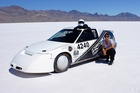 Miriam Macmillan hit 383.3km/h in her turbocharged 1.5 litre Honda CRX.