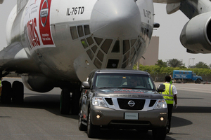 A Nissan Patrol shows its strength.