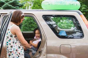 SUVs such as Honda's CRV are popular with new parents as they have high rear seats and space in the back.