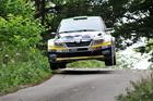 Hayden Paddon and John Kennard in action on the final day of ADAC Rallye Deutschland . Photo / Honza Fronek.