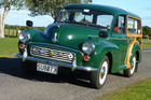 Mike Harmon spent $12,142 lovingly restoring his 1968 Morris Minor Traveller over five years. Pictures / Jacqui Madelin