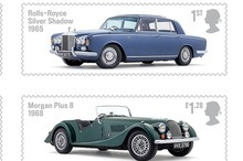 Stamps celebrating some of Britain's automotive icons. Photo / Supplied
