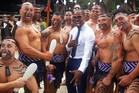 Oscar-winning Hollywood star Jamie Foxx posted on Twitter this photo of him with the Destiny Church kapa haka group.