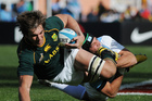 South Africa's Eben Etzebeth was unimpressed at being bitten in his side's win over the Pumas. Photo / AP