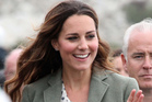Kate, Duchess of Cambridge, made her first public appearance since the birth of Prince George as she joined husband Prince William, the Duke Of Cambridge, at Breakwater Country Park for the start of