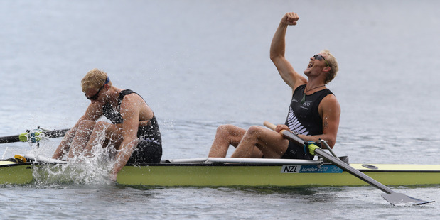 The pair are on the cusp of a record 16th straight international regatta victory. Photo / NZ Herald