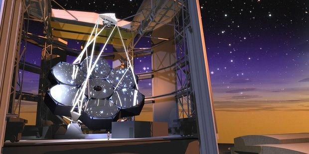 Artist impression of the Giant Magellan Telescope twilight.