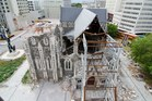 The earthquake-damage Christchurch Cathedral. Photo / NZ Herald