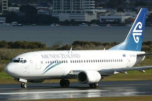 Air NZ flight 414 struck a problem while descending over Raglan. Photo / APN