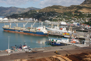 Lyttelton Port stayed at $2.70 after a profit fall. Photo / The Star