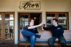 Brew Craft Beer Pub co-owner Paul Croucher, right, and bar manager Jonathan 'Jock' Dalby. Photo / Stephen Parker