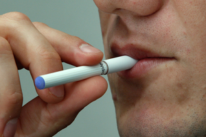 Hydro electronic cigarette, from Elusion New Zealand, which delivers nicotine in a vapour. Photo / Brett Phibbs