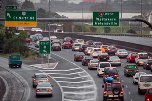 Auckland's Northwestern Motorway.