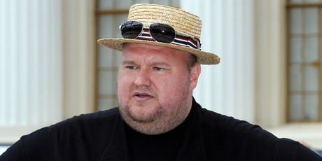 The tables turned on the self-serving internet freedom fighter Kim Dotcom. Photo / Duncan Brown