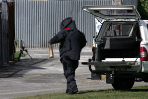 A bomb squad member. File photo / APN