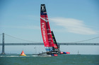 There is intrigue over which boat the Italians will sail against Team NZ. Photo / Chris Cameron.