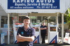 James Payne, Martyn Payne's son, and forecourt attendant Nicole Mackenzie face an uncertain future. Photo / Peter de Graaf