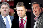Shane Jones, David Cunliffe, and Grant Robertson are campaigning for the leadership of the Labour Party. Photos / NZ Herald