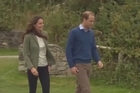 The Duchess of Cambridge made her first appearance in public since giving birth to Prince George. Catherine joined her husband, Prince William, who officially started an ultra-marathon event on the island of Anglesey in Wales.