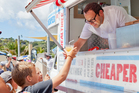 Michael Van de Elzen and the Food Truck went to the Waiheke beach races.Photo / Babiche Martens