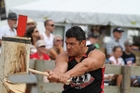 Competitive axeman Campbell Hastie says the danger factor of swinging an axe may cause a testosterone boost.